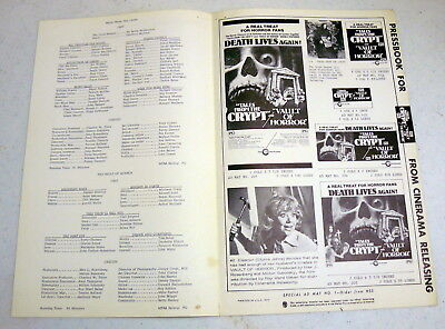 Tales from the Crypt 1972 & Vault of Horror 1973 (4pages) plus description sheet