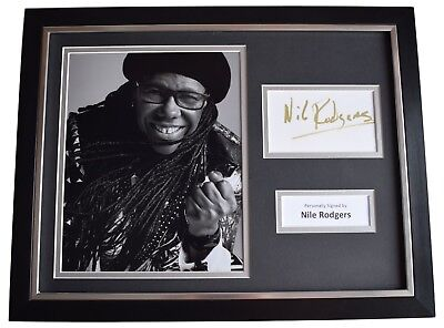 Nile Rodgers Signed Framed Photo Autograph 16x12 display Chic le Freak Music COA