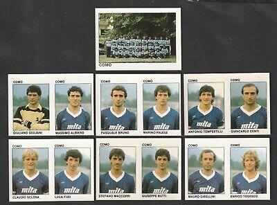 LOTTO DI 7 FIGURINE ALBUM CALCIATORI CALCIO FLASH 84 1983-84 COMO COMPLETA