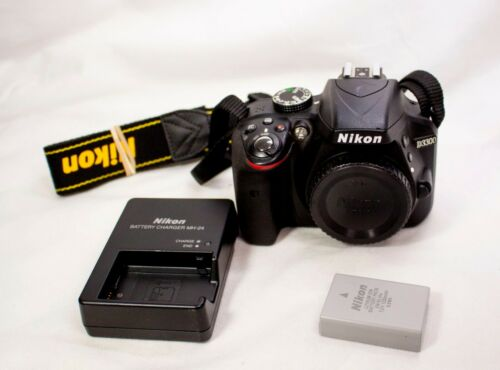 Nikon D D3300 24.2MP Digital SLR Camera - Black (Body Only)