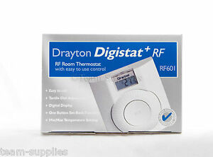 drayton digistat rf wireless room thermostat rf601 ebay. Black Bedroom Furniture Sets. Home Design Ideas