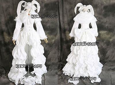 Hatsune Miku Kostüme (a-516 Hatsune Miku weiß Bunny Hasen Cosplay Kostüm costume Kleid dress n. Maß)