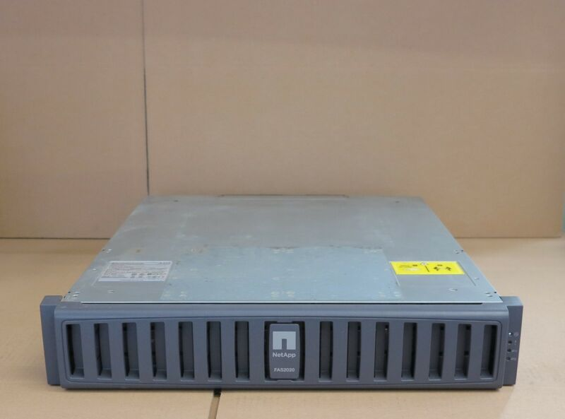 NetApp FAS2020 Filer iSCSI Storage Array Shelf 12TB SATA 7.2k Single Controller