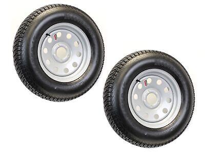 2-Pk Trailer Tire Rim ST205/75D15 F78-15 205/75-15 LRC 5 Lug Silver Modular