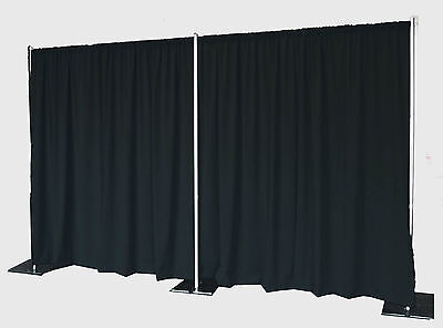 QUICK BACKDROP KIT 8 FT TALL x 20 FT WIDE PIPE AND DRAPE (NO DRAPES)