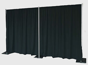 quick backdrop kit 8 ft tall x 20 ft wide pipe and drape no drapes