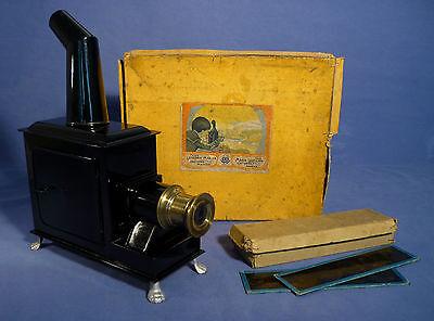 BING Blech Laterna Magica Brenner Blider OVP 1910 Kinematograph Projektor A172