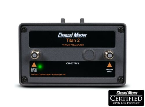 Channel Master Titan 2 High Gain Preamplifier TV Antenna Amplifier CM-7777v3
