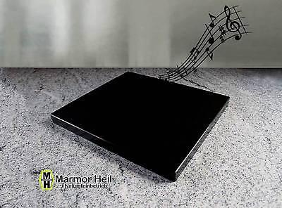 Nero Assoluto Zim. 3cm stark Entkopplungsplatte Gerätebasis Lautsprecher Granit