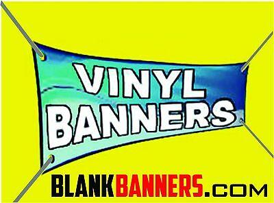One 1 White 3 Ft. X 10 Ft. Sewn Vinyl Blank Banner Sign 13oz. Grommets 3x10