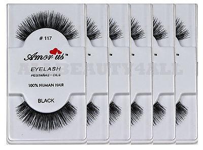 fadf0cde60e AmorUs 100% Human Hair False Eyelashes #117 (pack of 6 pairs) compare