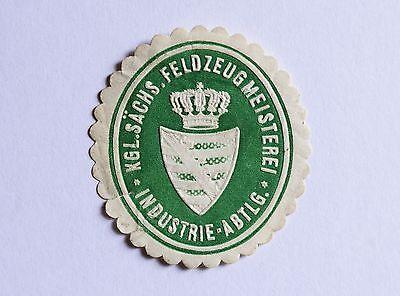 Kgl.Sächsische Feldzeugmeisterei Industrie Abteilung / Militär Siegelmarke V10