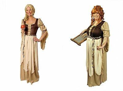 Magd Freifrau Kostüm Mittelalter Bäuerin Wirtin Marketenderin Gr.36-54 Karneval - Alt Frau Kostüm