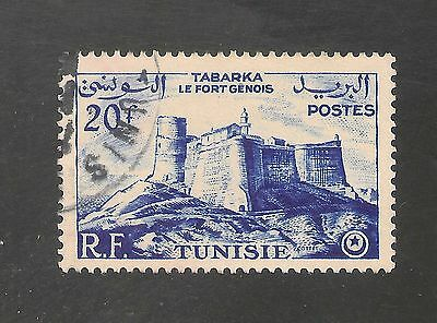 Tunisia #246 VF USED - 1954 20fr Genoese Fort, Tabarka