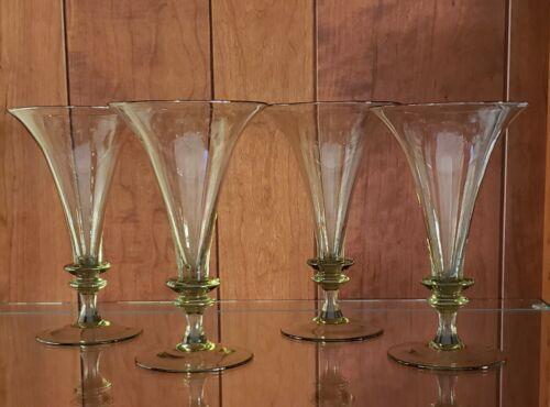 Antique Georgian Trumpet Bowl Glasses/signed - Excellent