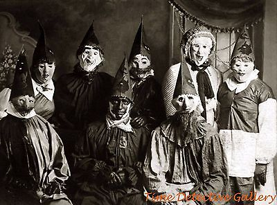 Halloween Group (A Creepy Halloween Group - Historic Photo)