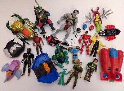 Retro 90s Action Figure Toy Lot Marvel TMNT Transformers Hot Wheels