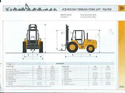 Fork Lift Truck Brochure - Jcb - 926 930 Rough Terrain - C2003 Lt312