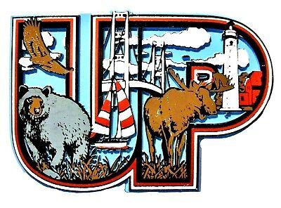 Upper Peninsula Michigan Collage Fridge -