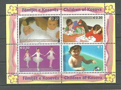 KOSOVO 2006 Mi.50/53  Kids  Children of Kosova block MNH