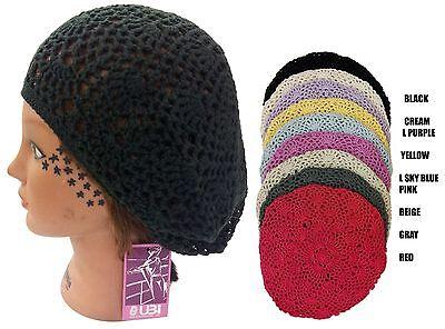 100% Cotton Women Lady Beanie Crochet Beret Knit Hat Cap - Hand Made 2