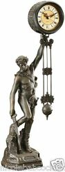 18th-century French Style Nude Male Statue Sculptural Pendulum clock
