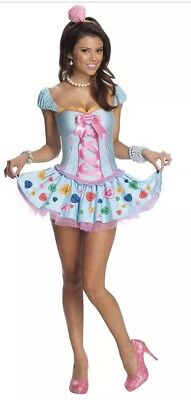 Sweetheart Candy Girl Pop Star Blue Fancy Dress Up Halloween Sexy Adult Costume](Pop Stars Halloween Costumes)