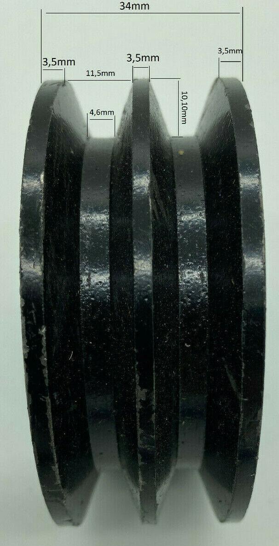Keilriemenscheibe 67mm 2-rillig Riemenscheibe, Welle 25mm