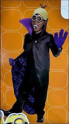 Minions - Minion Dracula black purple yellow costume S (4-6) Rubies 610782 NWT - Purple Minion Costume