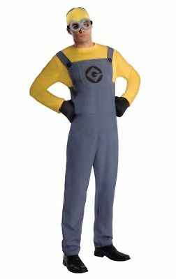 Brand New Despicable Me 2 Minion Dave Adult Halloween Costume Size M - Despicable Me 2 Minion Halloween Costumes
