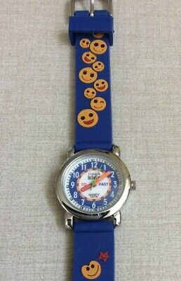 506595605633 TIME 4 KIDS Watch Round Dial Helps Teach Time on Smiley Face Band  Waterproof!