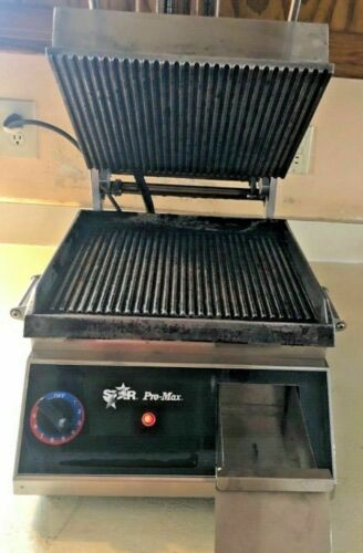 LgStar Pro Max CG14 Commercial Grooved Sandwich Grill Panini Press