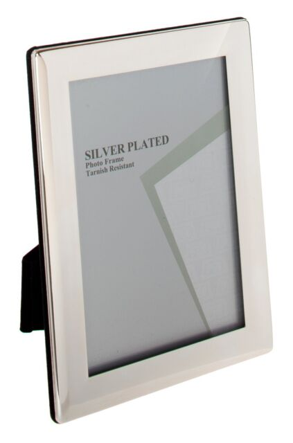 """SILVER PLATED PICTURE PHOTO THICK EDGE FRAME 3.5"""" X 5"""" BY UNITY"""