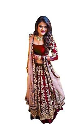 Pakistani Wedding Indian Wear Lengha Designer Party Bridal Ethnic Lehenga Choli