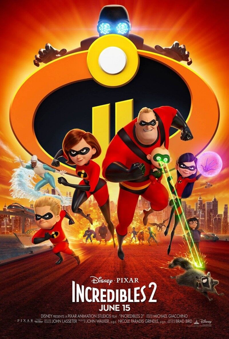 """""""INCREDIBLES 2 """" BRAND NEW DVD FACTORY SEALED FREE SHIPPING"""