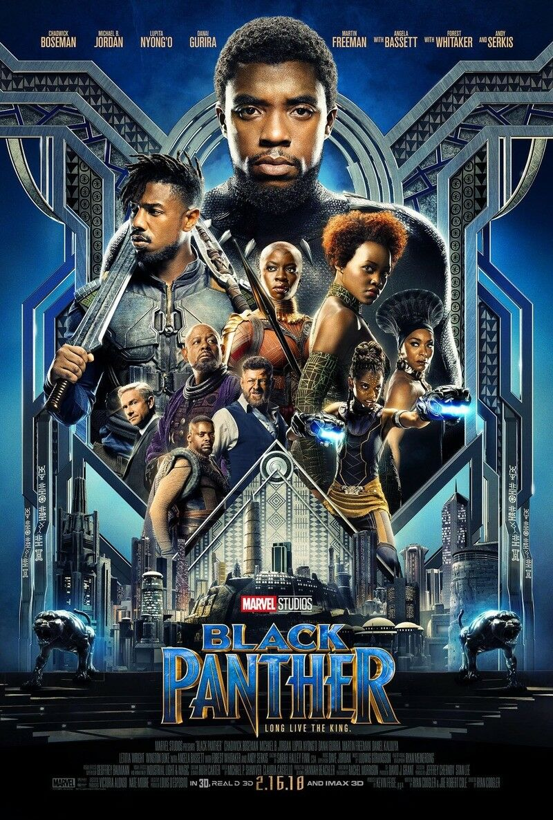 Black Panther DVD 2018 Sealed New Free Shipping!