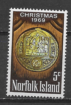 NORFOLK ISLAND , 1969 , CHRISTMAS , STAMP ,  PERF,  MNH