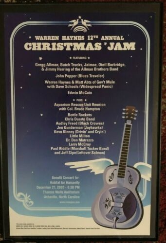 allman brothers poster the allman bros. played at christmas jam. comes framed