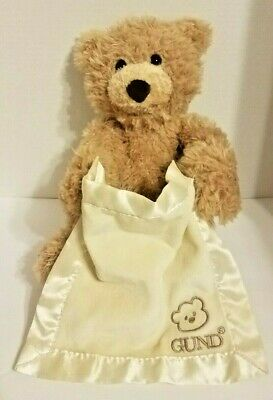Baby Gund * Peek-a-Boo Bear Teddy Plush Doll * Animated Interactive Talking