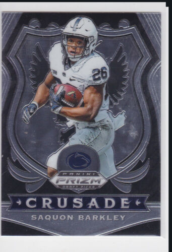 2020 PANINI PRIZM NCAA DRAFT PICKS NEW YORK GIANTS SAQUON BARKLEY CRUSADE NO. 85