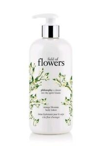 NEW + PUMP PHILOSOPHY FIELD OF FLOWERS PERFUMED BODY LOTION 16 OZ ORANGE BLOSSOM