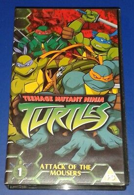 2003 *** VHS VIDEO 3 EPISODES ATTACK MOUSERS ** TEENAGE MUTANT NINJA TURTLES TMN