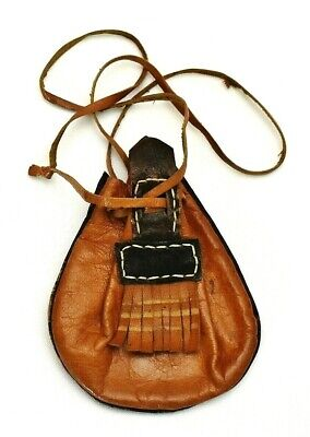 1940s Handbags and Purses History Rare 1940's African Handmade Leather Medicine Bag / Pouch $59.99 AT vintagedancer.com