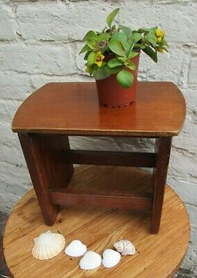 VINTAGE SMALL MAHOGANY STEP STOOL PLANT STAND DOLLS SEAT PROP
