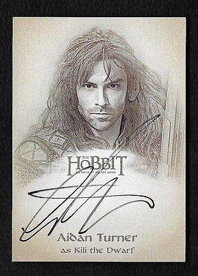 The Hobbit The Battle of the Five Armies Illustration Autograph Aidan Turner