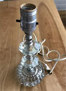Pied de lampe en verre Vintage