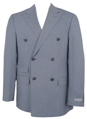 NEW Hickey Freeman Double Breasted Sportcoat (Blazer)!  44 Reg  Cotton  USA Made
