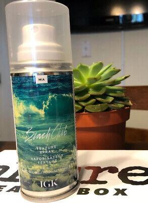 NEW IGK Beach Club Texture Spray 1.7 oz Travel Size Fast Shipping