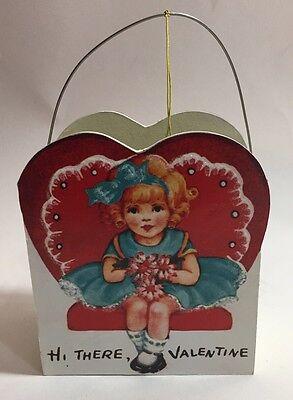 New Bethany Lowe Valentine Day Retro Valentine Mini Bucket - Hi There Valentine