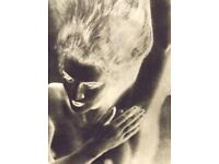 "MAN RAY mounted repro photo print 10 x 8/"" 1933 male nude gay interest MR21"